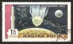Sellos de Europa - Hungría -  Aterrizaje en la Luna