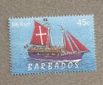 Sellos del Mundo : America : Barbados : Jolly Roger