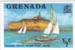 Sellos de America - Granada -  V E L E R O S