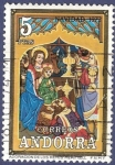 Stamps Andorra -  ANDORRA Navidad 1973 5 (2)