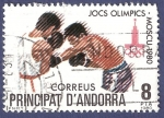 Stamps Andorra -  ANDORRA Moscú 1980 8 (2)