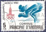 Stamps Andorra -  ANDORRA Moscú 1980 5 (2)