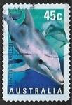 Stamps Australia -  Delfin