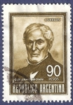 Stamps Argentina -  ARG Guillermo Brown 90 sepia