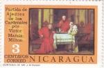 Sellos de America - Nicaragua -  PARTIDA DE AJEDREZ DE LOS CARDENALES