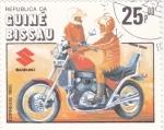 Sellos de Africa - Guinea Bissau -  MOTO- SUZUKI