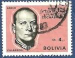 Sellos de America - Bolivia -  BOLIVIA IV Centenario fundación Cochabamba Villaroel 4 aéreo (2)