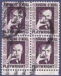 Stamps United States -  USA Eugene O'Neill 1 cuádruple