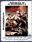 Stamps El Salvador -  EL SALVADOR Bicentenario EEUU 40 (1)