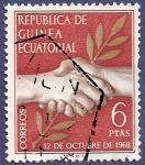 Sellos de Africa - Guinea Ecuatorial -  GUINEA EC Día de la Independencia 12 octubre 1968 6 ptas
