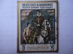 Sellos del Mundo : Asia : Emiratos_Árabes_Unidos : San Martìn y el Mendigo - Oleo del Pintor:El greco, en 1597.