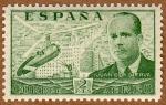 Sellos de Europa - España -  AUTOGIRO SOBRE MADRID-JUAN DE LA CIERVA