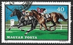 Stamps Hungary -  Caballos al galopo