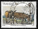 Stamps South Africa -  Comercial con burros