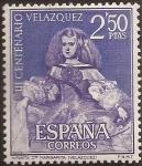 Sellos de Europa - España -  III Centenario de la muerte de Velázquez   1961  2,50 ptas