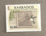 Stamps America - Barbados -  50 Aniversario Universidad Indias Occidentales