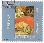 Stamps Spain -  Navidad 2000  conjunto con Alemania