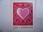 Stamps United States -  Sellos de Amor Romántico