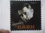 Sellos del Mundo : America : Estados_Unidos : Cantante: Johnny Cash . Conocido como el Hombre de Negro.
