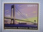 Sellos del Mundo : America : Estados_Unidos : Puente Colgante sobre el río Hudson:Verrazano-Narrows Bridge. 1959.