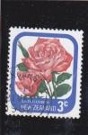 Sellos del Mundo : Oceania : Nueva_Zelanda : F L O R E S- ROSA