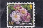 Stamps United Kingdom -  FLORES DE GUERNSEY