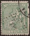 Sellos de Europa - España -  Alegoría de España  1873  10 cents
