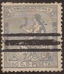 Stamps Spain -  Alegoría de España  1873  50 cents