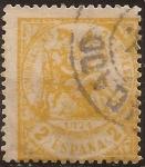 Stamps Spain -  Alegoría de la Justicia  1874  2 cts