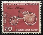 Stamps Germany -  Primer moto car de Carl Benz (1844-1929)