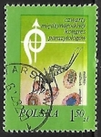 Sellos de Europa - Polonia -  Mosquito Anopheles