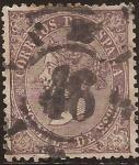 Stamps Spain -  Isabel II  1869  50 mils de escudo