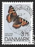 Sellos de Europa - Dinamarca -  Mariposa
