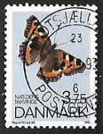 Stamps Denmark -  Mariposa