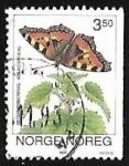 Sellos de Europa - Noruega -  Mariposa