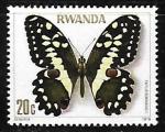 Sellos de Africa - Rwanda -  Mariposa