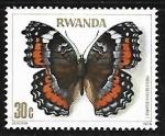 Sellos del Mundo : Africa : Rwanda :  Mariposa