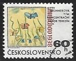 Sellos de Europa - Checoslovaquia -  Mariposa