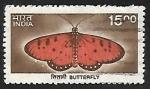 Sellos de Asia - India -  Mariposa
