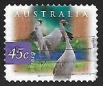 sellos de Oceania - Australia -  Grullas