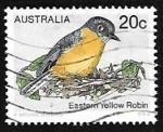 Sellos de Oceania - Australia -  Eastern Yellow Robin