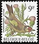 Sellos del Mundo : Europa : Bélgica : European Goldfinch