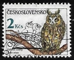 sello : Europa : Checoslovaquia :  Aves Rapaces