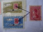 Sellos del Mundo : America : Colombia : Sello del 1917 sobrestampado del Gr. Antonio Nariño, sobre sello del 40 aniv. Correos de Colombia