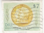Stamps Chile -  Bicentenario de sus nacimientos