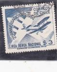 Sellos de America - Chile -  25 aniversario Línea aérea nacional