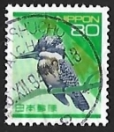 Stamps Japan -  Martin Pescador