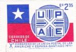 sello : America : Chile : Xº Congreso Unión Postal de las Américas y España