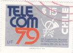 Stamps Chile -  TEL COM-79 3ª Exposición Mundial Telecomunicaciones