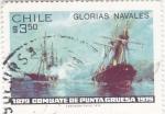 sello : America : Chile : 100 Aniversario combate naval de Punta Gruesa